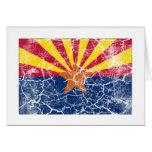 Arizona State Flag Vintage Card