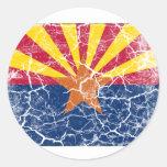 Arizona State Flag Vintage Classic Round Sticker