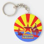 Arizona State Flag Vintage Drawing Basic Round Button Key Ring