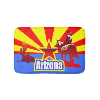 Arizona State Flag Vintage Drawing Bath Mats
