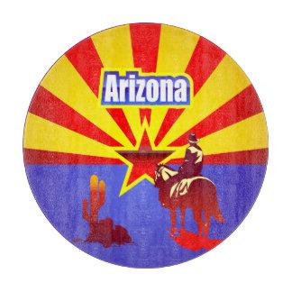 Arizona State Flag Vintage Illustration Cutting Board