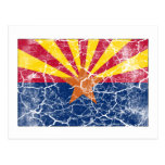 Arizona State Flag Vintage Post Card