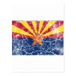 Arizona State Flag Vintage Postcard