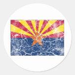 Arizona State Flag Vintage Round Sticker