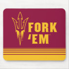 Arizona State Fork 'Em | Stripes Mouse Mat