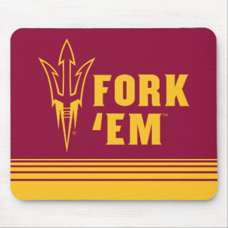 Arizona State Fork 'Em | Stripes Mouse Mat