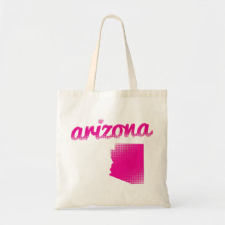 Arizona state in pink tote bag