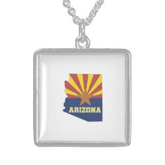 Arizona State Map and Flag Jewelry
