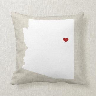 Arizona State Pillow Faux Linen Personalized