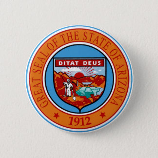 Arizona State Seal 6 Cm Round Badge
