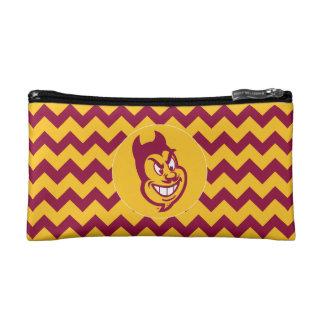 Arizona State Sparky | Chevron Pattern Makeup Bags