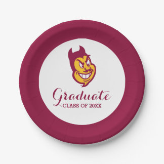 Arizona State Sparky Paper Plate