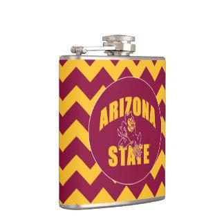 Arizona State Sun Devil | Chevron Pattern Flask