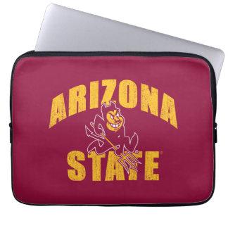 Arizona State Sun Devil   Distressed Laptop Sleeve