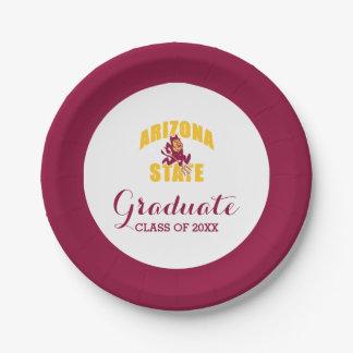 Arizona State Sun Devil Paper Plate