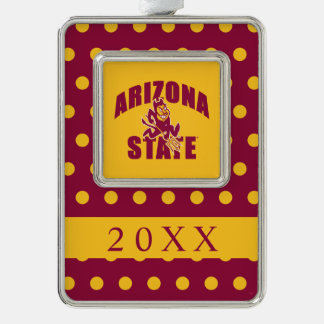 Arizona State Sun Devil Silver Plated Framed Ornament