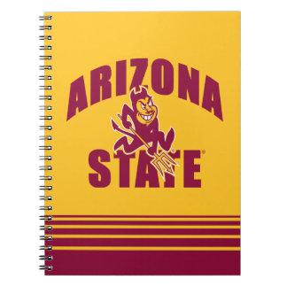 Arizona State Sun Devil | Stripes Spiral Notebook