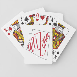Arizona | State Typography Design Playing Cards