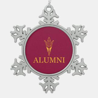 Arizona State University Alumni Snowflake Pewter Christmas Ornament