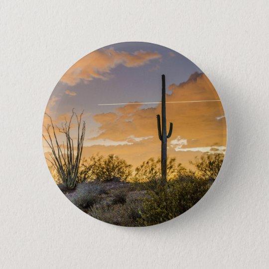 Arizona Sunset 6 Cm Round Badge