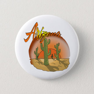 ARIZONA Sunset Cactus 6 Cm Round Badge