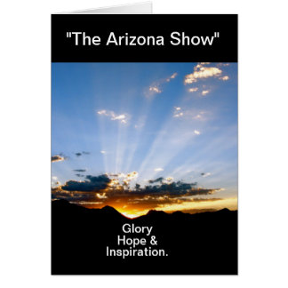 """Arizona Sunset"" Card"