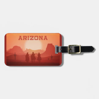 Arizona Sunset custom luggage tag