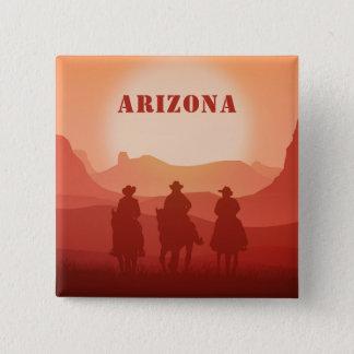 Arizona Sunset custom magnet 15 Cm Square Badge