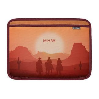 Arizona Sunset custom monogram MacBook sleeves