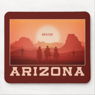 Arizona Sunset custom monogram mousepad