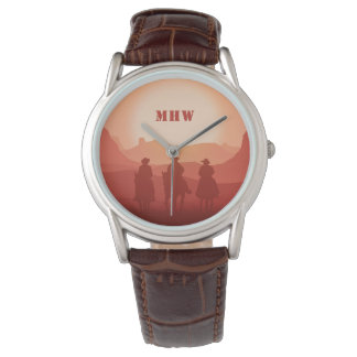 Arizona Sunset custom monogram watches