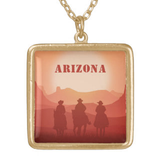 Arizona Sunset custom text necklace