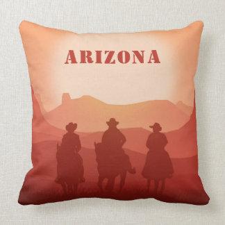 Arizona Sunset custom text throw pillows