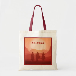 Arizona Sunset custom text tote bags