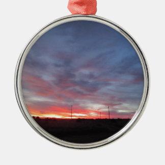 Arizona Sunset Round Metal Christmas Ornament