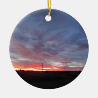 Arizona Sunset Double-Sided Ceramic Round Christmas Ornament