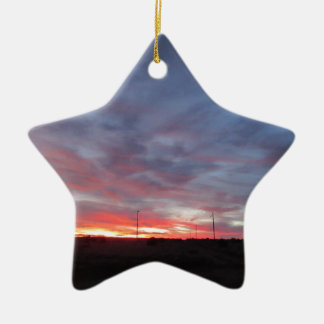 Arizona Sunset Double-Sided Star Ceramic Christmas Ornament