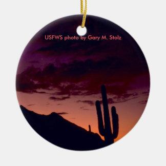 Arizona / Sunset in Sabino Canyon Christmas Ornament