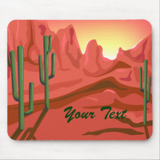 Arizona Sunset Red Rock Mousepad