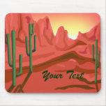 Arizona Sunset Red Rock Mousepad Mousepads