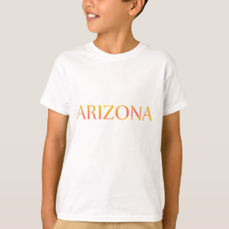 Arizona Sunset Text Kids T-shirt