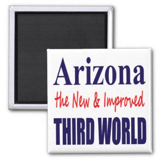 Arizona the New & Improved THIRD World Square Magnet