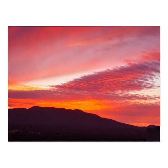 Arizona Tonopah Sunset Photo Postcard