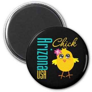 Arizona USA Chick 6 Cm Round Magnet