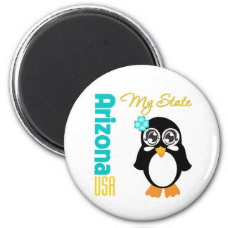 Arizona USA Penguin 6 Cm Round Magnet