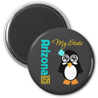 Arizona USA Penguin 6 Cm Round Magnet