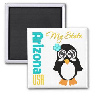 Arizona USA Penguin Square Magnet