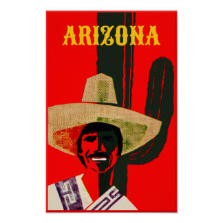 Arizona Vintage Style Travel Poster