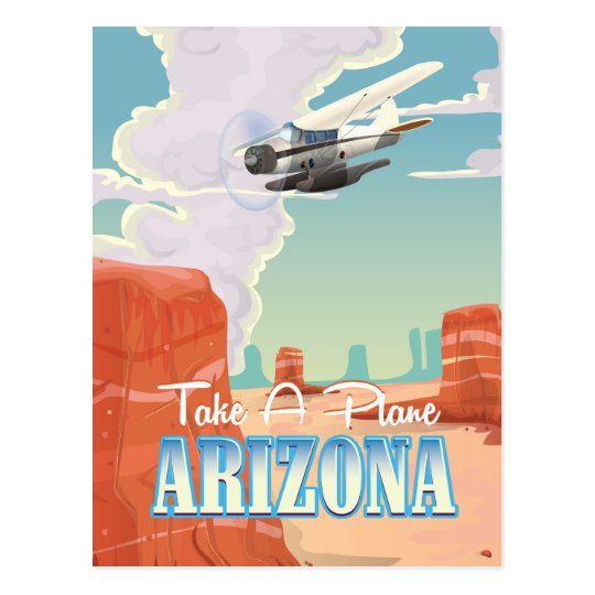Arizona vintage travel poster postcard