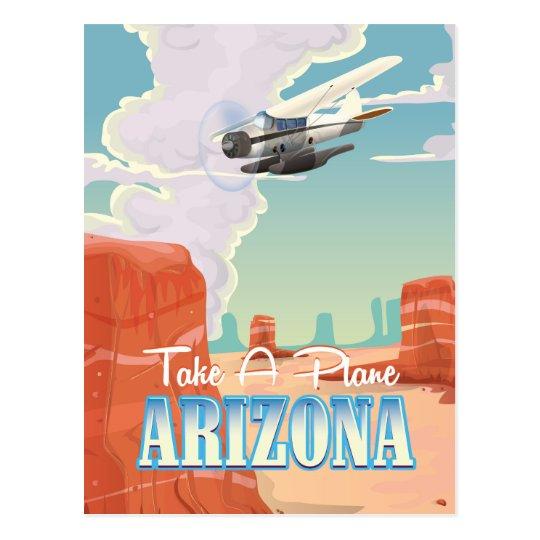 Arizona vintage travel poster postcard